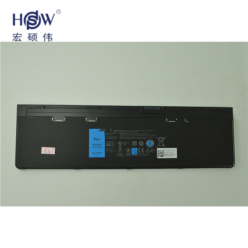 HSW 11.1V 31WH genius  laptop battery FOR DELL Latitude 12 7000-E7240 Latitude E7240  Latitude E7250 Latitude E7440 11 1v 97wh korea cell new m5y0x laptop battery for dell latitude e6420 e6520 e5420 e5520 e6430 71r31 nhxvw t54fj 9cell