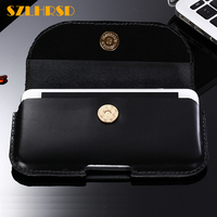 SZLHRSD For AGM X3 A1Q A8 Mini A8 SE X1 Mini Case Genuine Leather Waist Pouch
