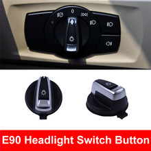 цена на Car Styling Interior Inner Headlight Head Lights Switch Button Conversion Cover Cap For BMW 3 series E90 318 320 325 330 335
