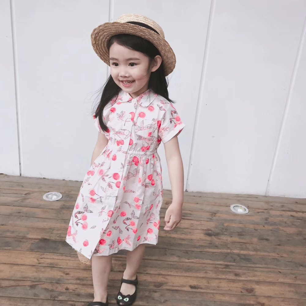In Stock Now Mother Daughter Wedding Dresses Sweet Cherry Pattern Dress For Mum And Daughter Boutique Baby Mother Clothes