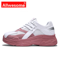 2019 Spring Autumn Women Casual Shoes Comfortable Platform Shoes Women Wedge Sneakers Ladies Trainers Chaussure Femme