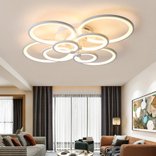 Hot Remote dimming Modern Led ceiling lights for living room bedroom study room light white/Black ceiling lamp plafondlamp