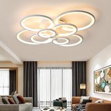 חם מרחוק עמעום מודרני Led תקרת אורות סלון חדר שינה מחקר חדר אור לבן/שחור תקרת מנורת plafondlamp