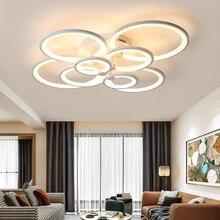 ホットリモート調光現代の led シーリングライトリビングルームライト白/黒天井ランプ plafondlamp