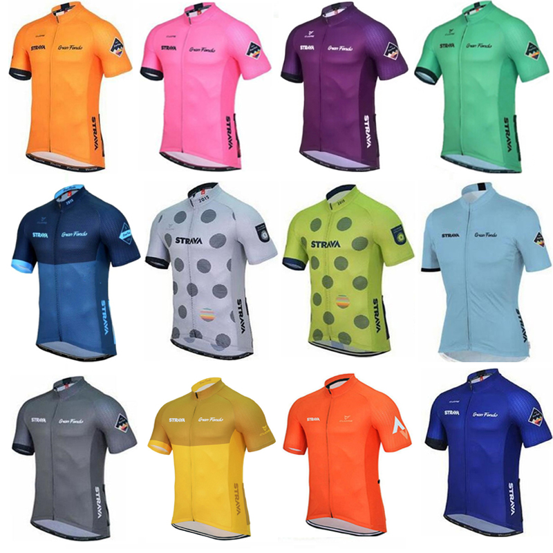 Clothing Jersey-Tops Cycling Short-Sleeve Bike Maillot Racing Summer Mtb Uniformes Strava-Pro