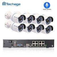 Techage 8CH 1080P POE NVR CCTV System Audio Record 2 0MP 3000TVL IP Camera P2P Waterproof
