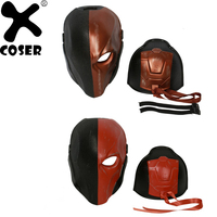 XCOSER 2018 Hot Game Updated Deathstroke Helmet Batman Arkham Knight Cosplay Full Head Mask Masquerade Halloween Party For Men