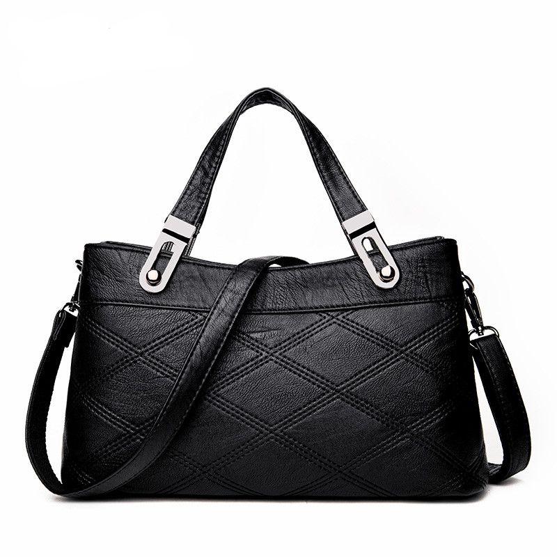 Leather Women Handbags Messenger Bag For Ladies Luxury Designer Shoulder Bag Famous Brand Handbag Tote Bags new luxury famous brand designer bag women shoulder handbag real genuine leather messenger bags handbags for ladies bolsa ly109