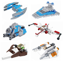 2018 Star Wars MICROFIGHTERS Republic Gunship ARC-170 Starfighter Building Blocks Model Toys Compatible With Legoings 722pcs space wars 05030 vader s tie advanced vs a wing starfighter model building blocks toys bricks compatible with lego