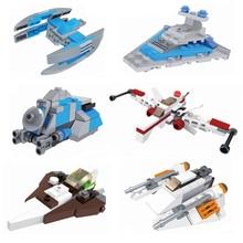 цена на 2018 Star Wars MICROFIGHTERS Republic Gunship ARC-170 Starfighter Building Blocks Model Toys Compatible With Legoings