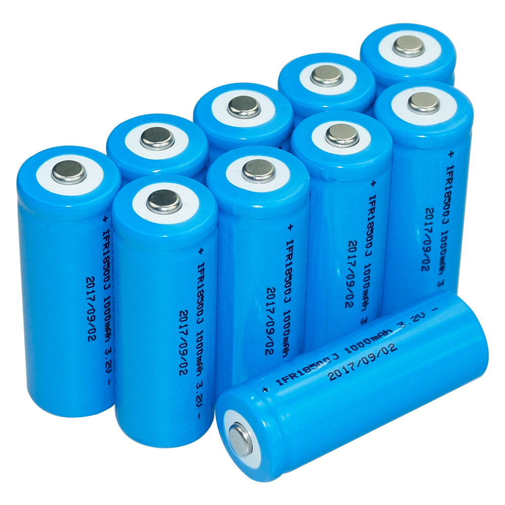 10 pcs Hixon LiFePo4  cell 3,2V 1000mAh Akku Zelle IFR18500 rechargeable battery with UN und UL certification