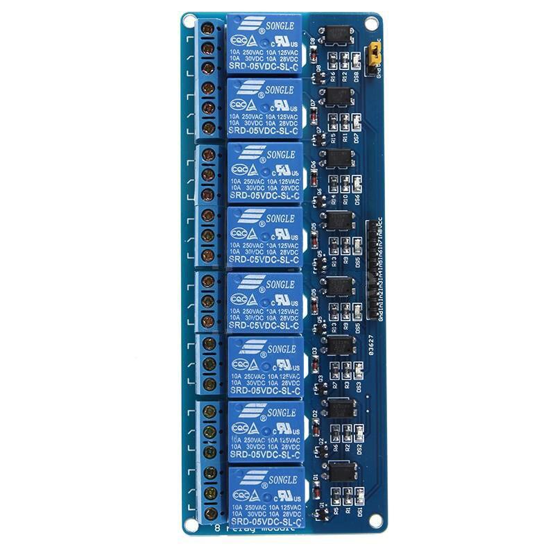 5X DC 5V 8 Channel Relay Module Board Shield for PIC AVR Arduino MCU DSP