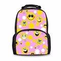 Noisydesigns 2018 новые модные школьные сумки Happy Satchels Emoticon для детей рюкзаки для девочек-подростков Mochila
