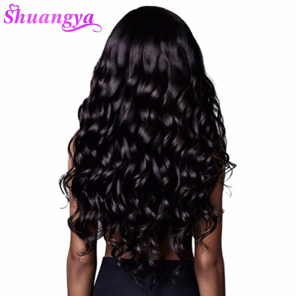 Shuangya Hair Indian Hair Body Wave Human Hair Bundles 1 Piece Non Remy Hair Extensions Weave 10-30inch Can buy 3 or 4 bundles