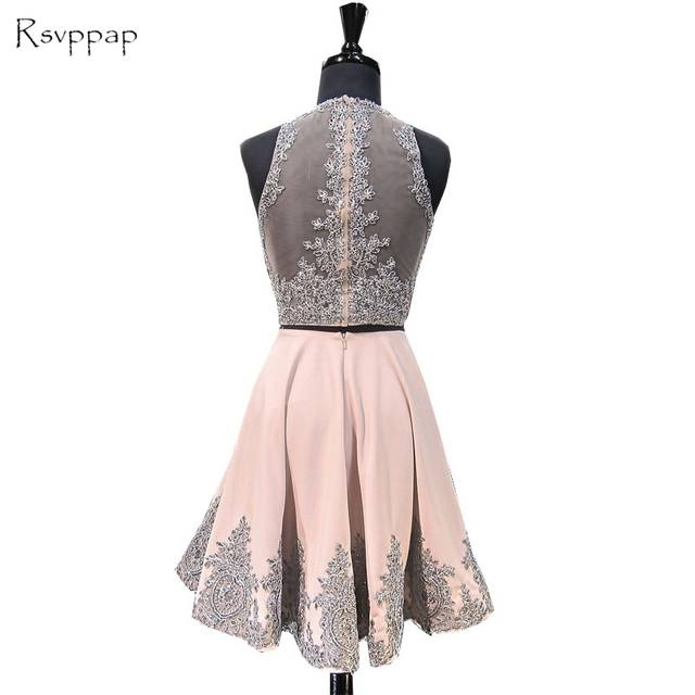 729c73efa2 Online Shop Sweet 8th Grade Prom Dress A-line Scoop Neckline Beaded Lace  Short Two Piece Sweet 16 Homecoming Dresses 2018