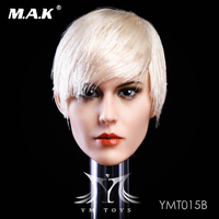 Silver hair 1/6 YMT015 B European and American mixed race female head carving Head Sculpt F 12'' TBleague Seamless Figure Body