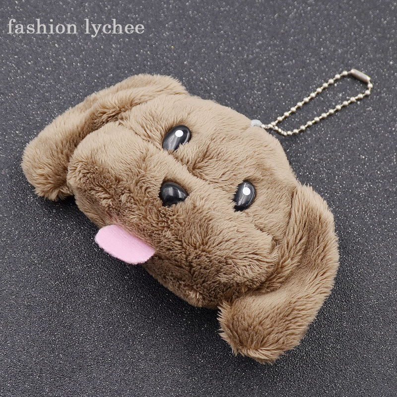 Cute Makkachin Poodle Keychain Anime Yuri on Ice Plush Pendant Phone Decor Toy