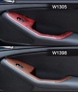 Image 1 - 2 Pieces 100*30cm Automobiles Safe Door Central Control Panel Sticker Wood Grain Waterproof Change Color DIY Styling Wrap Roll