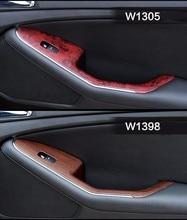 2 piezas 100*30cm puerta segura de automóviles Panel de Control Central Etiqueta de grano de madera impermeable Cambiar Color estilismo DIY rollo de envoltura