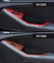 2 stück 100*30 cm Autos Sicher Tür Zentrale Steuerung Panel Aufkleber Holzmaserung Wasserdichte Ändern Farbe DIY Styling wrap Rolle