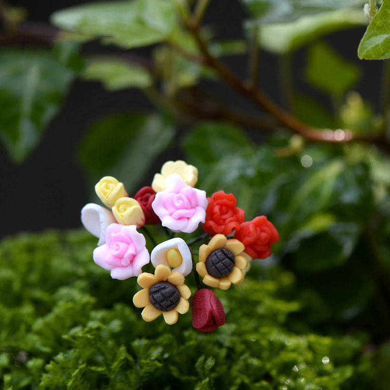 6 PCS Artificial Flower Calla Lily Fairy Garden Miniatures DIY Ornament Decoration Crafts Figurines Micro Landscape Dropshipping