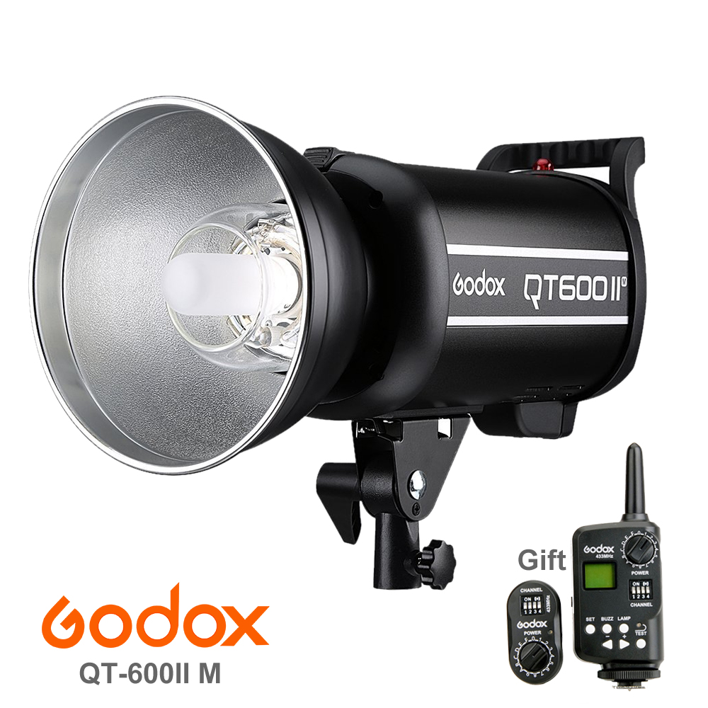 Godox QT600II QT-600IIM with Built in 2.4G Wirless System & Trigger 110V 600WS GN76 1/8000s High Speed Sync Flash Strobe Light new godox qt1200ii qt1200iim 1200ws gn102 1 8000s high speed sync flash strobe light lamp bulb with built in 2 4g wirless system