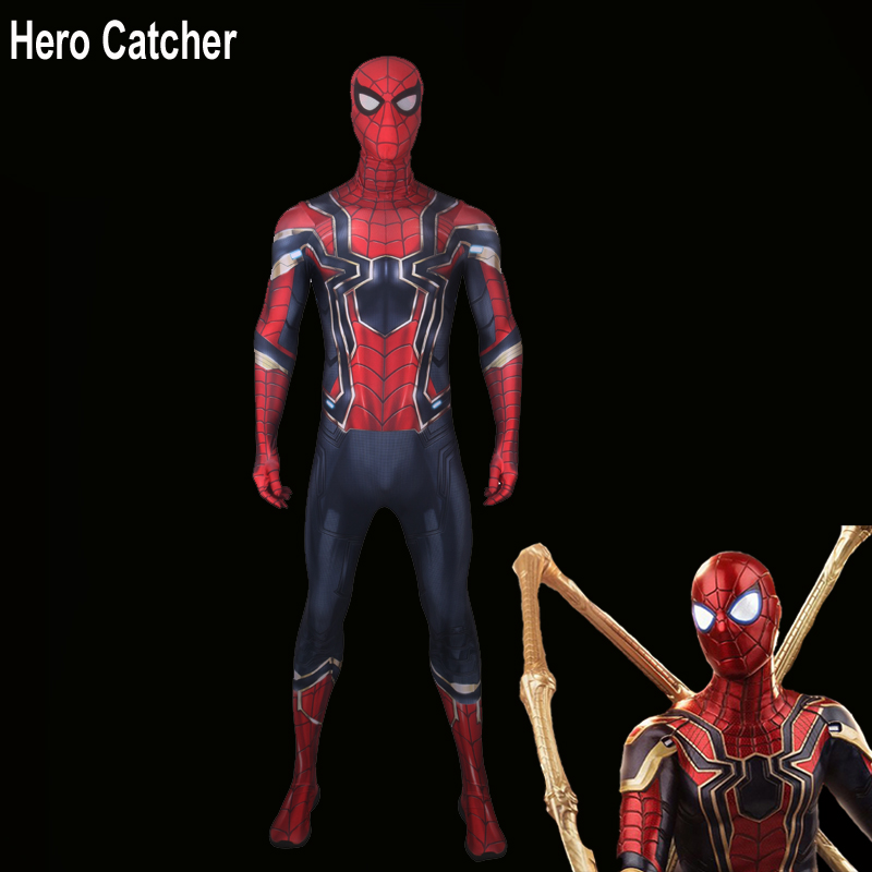 Hero Catcher Top Quality Iron Spider Costume Tom IronSpider Cosplay Costume Iron Spider Suit Homecoming Spiderman