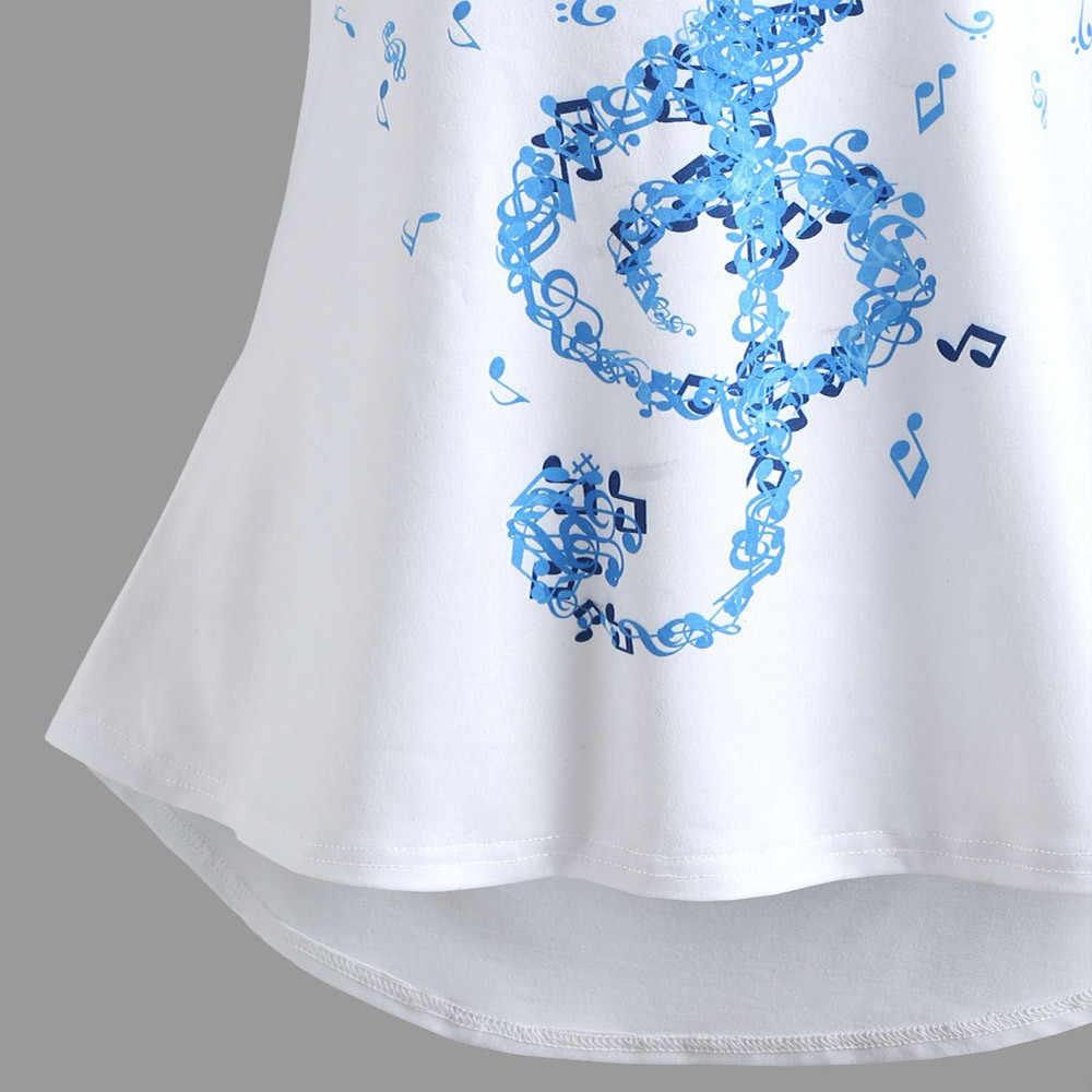 2020 yeni sıcak satış bayan bandaj kolsuz yelek üstleri müzikal notlar baskı Strappy tankı üstleri yaz kadınlar için Tops