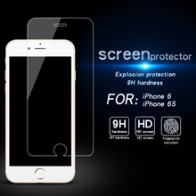 Фотография For Apple iPhone 6S 2.5D 9H Premium Tempered Glass Screen Protector for iPhone 6 Anti Shatter Toughened Protective Film 4.7