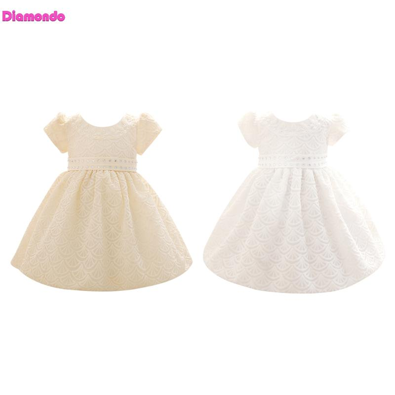 New Baby Girls Sleeveless Dresses Infant Kids Princess Bowknot Pageant Wedding Party Dress Tutu Lace Dress White Yellow for 0-2Y