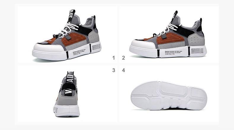 Men Casual Shoes 2018 Spring Autumn Men Shoes Breathable Mesh+Leather Patchwork Flats Footwear Men Sneakers Shoes20180615-180040