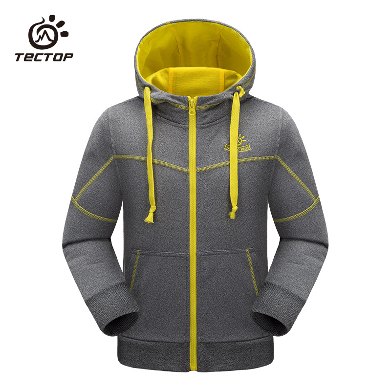 TECTOP Teenagers Classic Boy Girl Sport Jacket Spring Autumn Windproof Hooded Cardigan Child Jacket Outdoor Kids