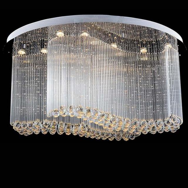 Free shipping new modern oval crystal chandelier luxury chandelier ...