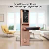 OULET Door Lock Fingerprint Home Apartment Electronic Lock Wireless App Phone Bluetooth Password Card Digital Door Lock