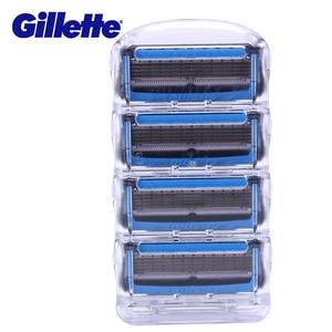 Image 2 - Gillette Fusion Proshield lame de rasoir pour hommes lames de rasoir avec refroidissement barbe rasage rasoirs lames 4 pièces Machine pour le rasage