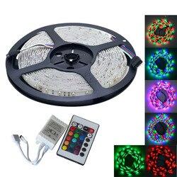 Wodoodporna 25W 300 3528 SMD RGB LED listwa oświetleniowa w/pilot (DC 12 V/5 m)|Taśmy i listwy LED|Lampy i oświetlenie -