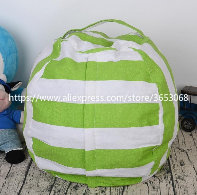 Best Stuffed Animal Storage Bean Bag Chair, Premium Cotton Canvas Toy Organizer for Kids Bedroom, Perfect Storage Solution