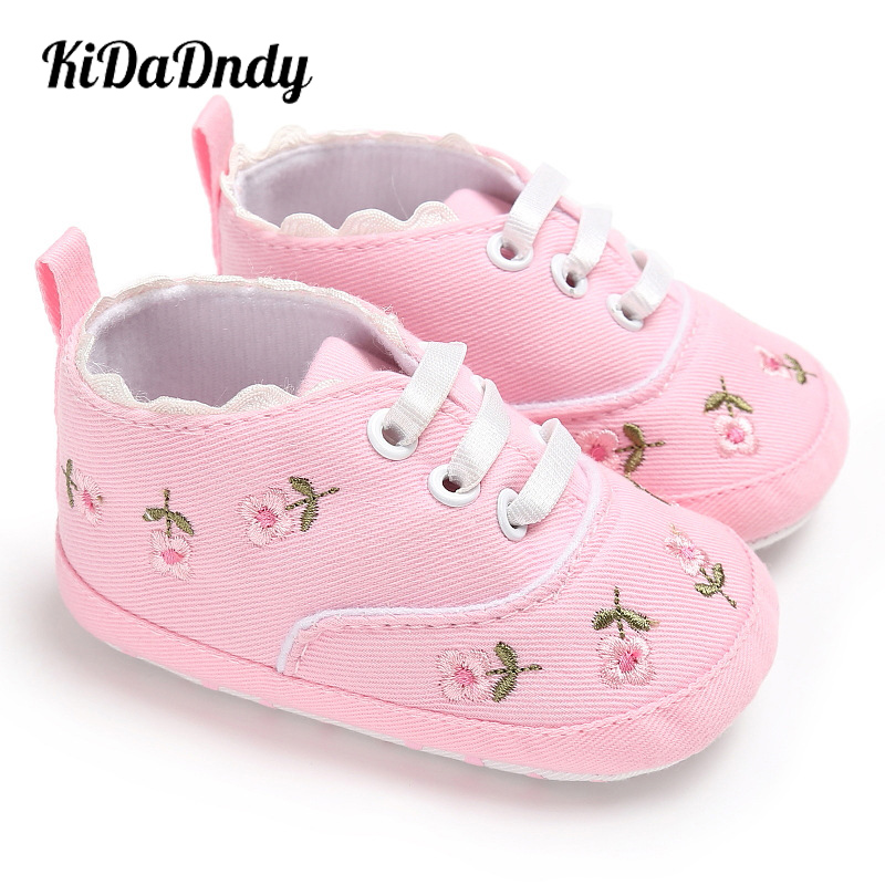KiDaDndy Baby Shoes Baby Girls Shoes Non-Slip Shoes With Comfortable Rubber Bottom 0~2 Year Old Spring Autumn  XZ029AA LXM358