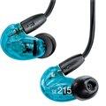 New Prefessional SE215 fone de ouvido Som isolando Fones de Ouvido Estéreo super bass em fones de ouvido Handsfree fones de ouvido Dinâmicos Transparente