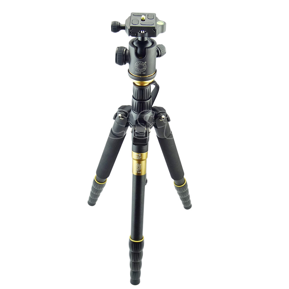 ZOMEI lightweight Portable Q666 Professional Travel Camera Tripod Ball Head Monopod Camera Stand for Canon Nikon Sony DSLR zomei z888 portable stable magnesium alloy digital camera tripod monopod ball head for digital slr dslr camera