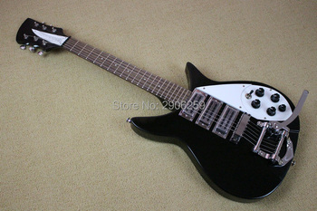 цена на Free Shipping high quality 3 pickups ricken 325 electric guitar backer with super tremolo system bridge Factory Direct