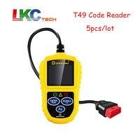 5pcs Lot DHL Free Car Code Reader Scanner T49 Scanner Leagend T49 OBD2 Scanner Auto Basic