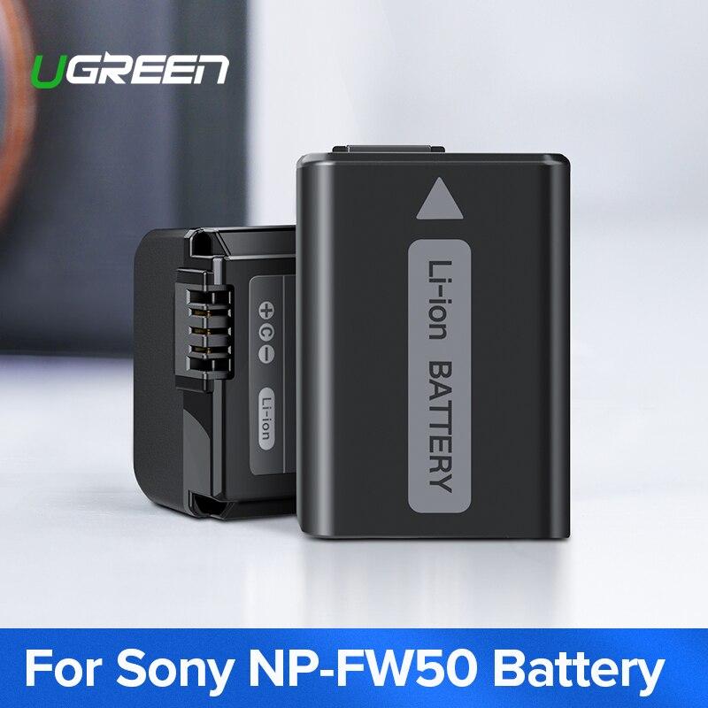 Ugreen NP-FW50 Caméra Batterie 1020mAh pour Sony a7m2 a7r2 S2 NP FW50 a6500 a6300 a6000 a5000 a3000 NEX-3 QX1 Batteries de Caméra