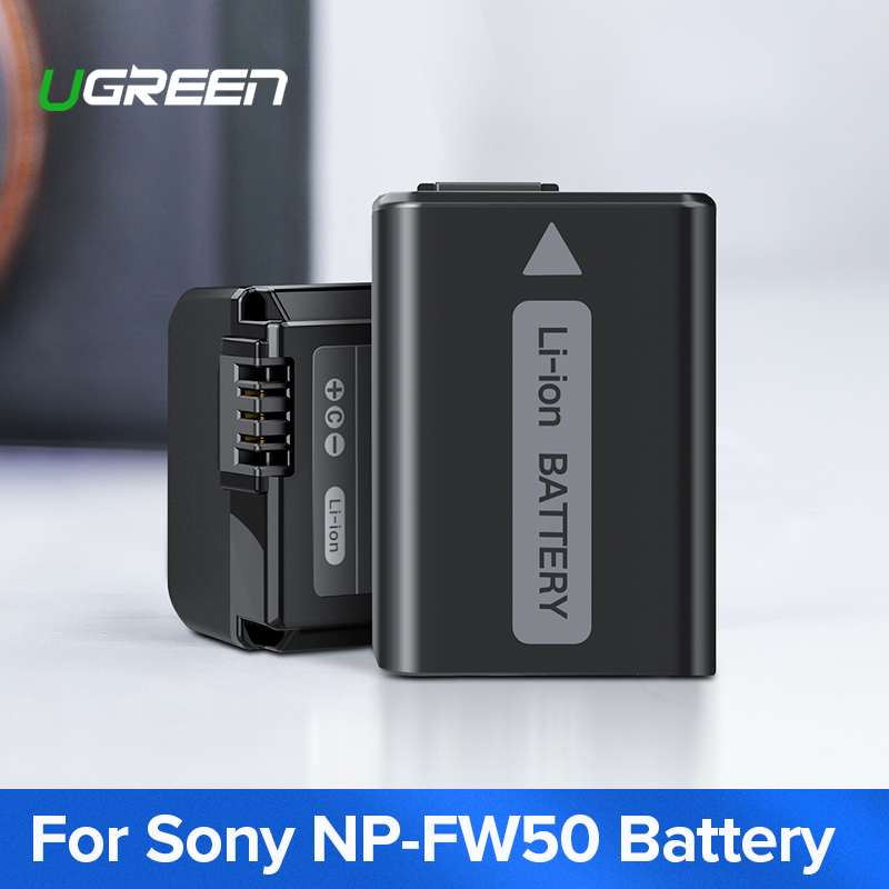 Ugreen NP-FW50 Camera Battery 1020mAh For Sony A7m2 A7r2 S2 NP FW50 A6500 A6300 A6000 A5000 A3000 NEX-3 QX1 Camera Batteries