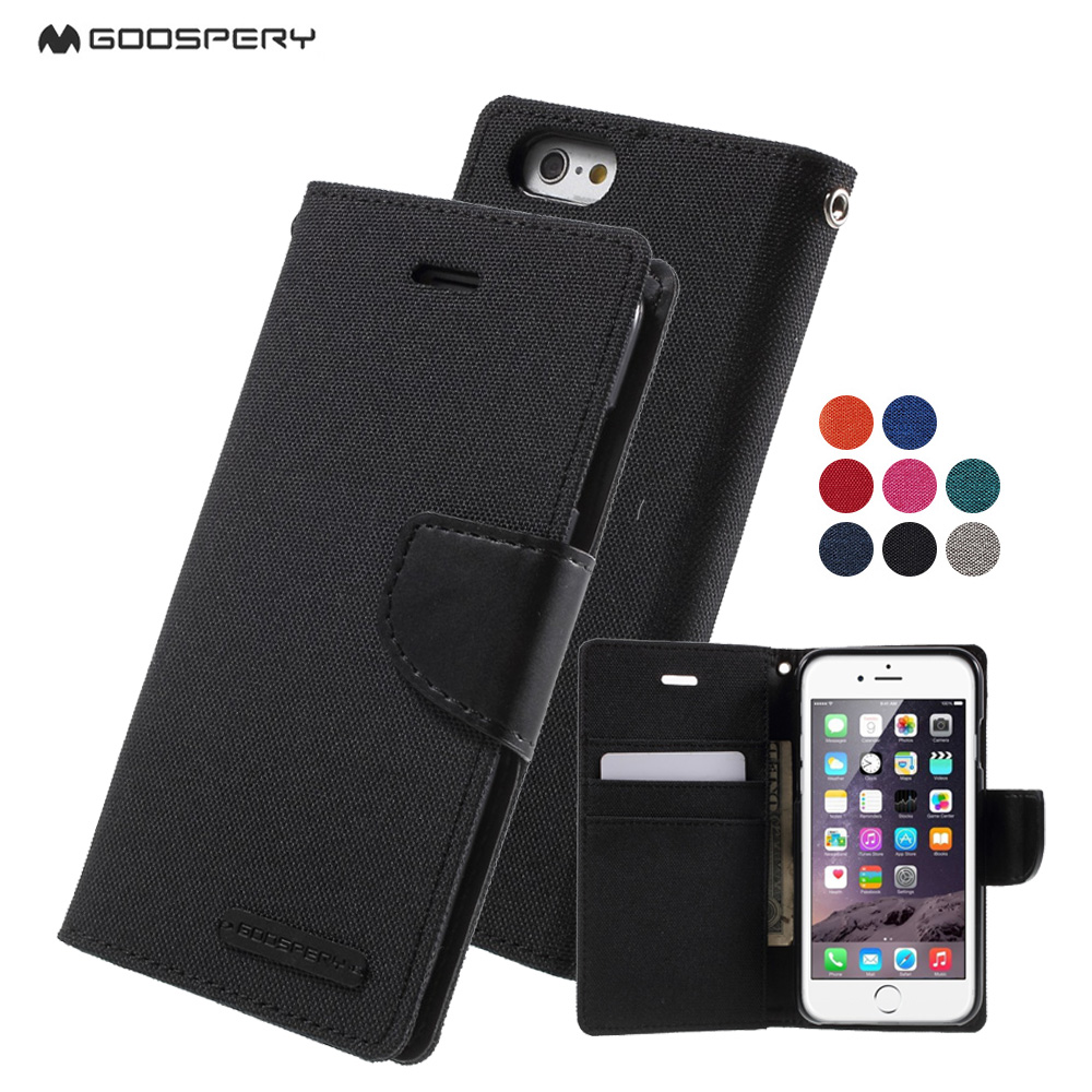 Goospery Samsung Galaxy S6 Canvas Diary Case Mercury Flip Wallet Leather Stand Phone Cases For Iphone 6 6plus 6s Plus Cover Coque Shell On Alibaba Group