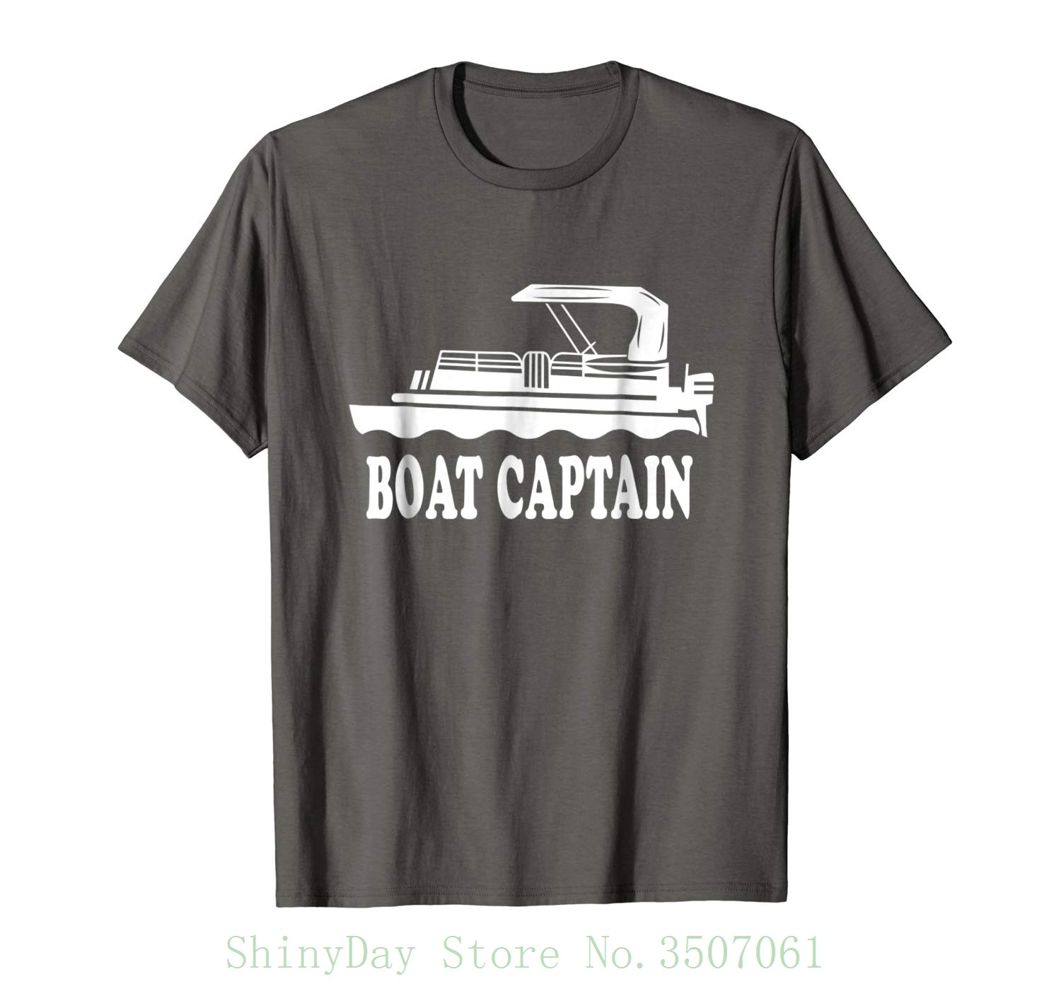 Boat Captain Pontoon Boat Captain Pontoon Tshirt Casual