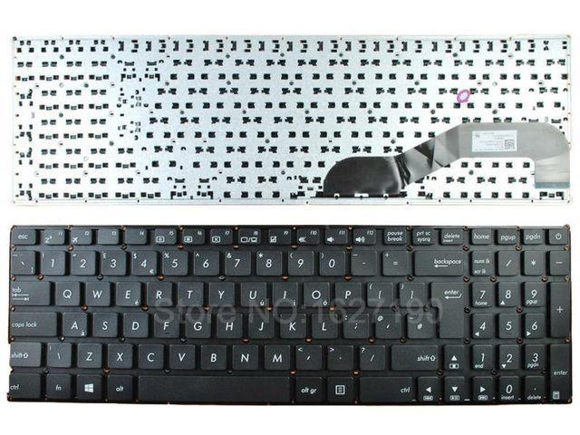 Nuevo reino unido teclado del ordenador portátil para asus x540 x540l negro (sin marco) notebook reparación reemplazo teclados