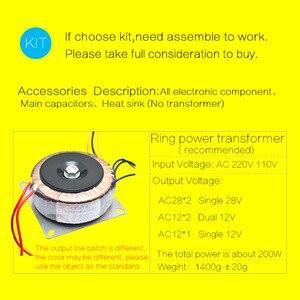 Image 5 - CIRMECH LM3886 Stereo di alta amplificatore di potenza bordo di OP07 DC servo 5534 indipendente amplificatore operazionale Shen Jin PCB KIT