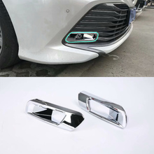 Car Accessories ABS Chrome Front Fog Light Lamp Cover Trim 2pcs (Not fit for Sport Mode) For Toyota Camry 2018 Styling