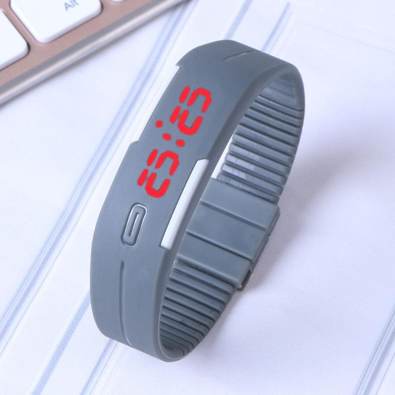 Hot Fashion Men Women Rubber LED Sport Watches